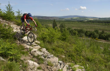 Riding the 7stanes trails at Dalbeattie